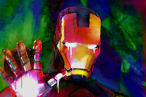 Iron Man Paint Color Art