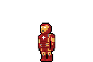 Iron Man Pixel Art Wallpaper