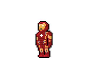 Iron Man Pixel Art Wallpaper