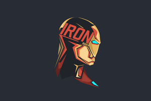 Iron Man Pop Head Minimalism 8k