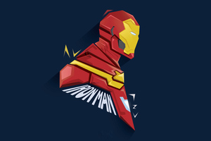 Iron Man Pophead Minimal 5k Wallpaper