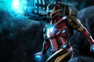 Iron Man Proton Cannon Wallpaper