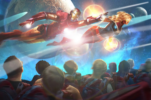 Iron Man Roller Coaster Wallpaper
