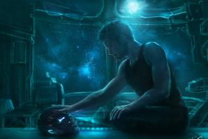 Iron Man Sending Message To Potts Wallpaper