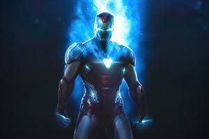Iron Man Space Stone 4k