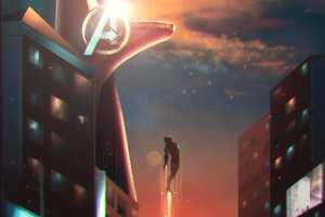 Iron Man Stark Tower 4k Wallpaper