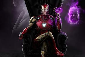 Iron Man Thanos Head Off