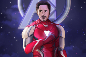 Iron Man Tony Art Wallpaper