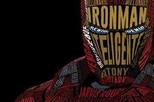 Iron Man Typographic Illustration