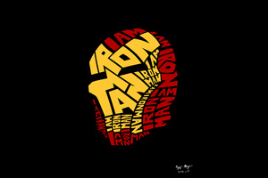 Iron Man Typography Artwork 8k