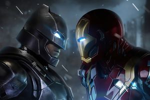 Iron Man V Bat Man 4k Wallpaper