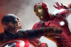 Iron Man Vs Captain America 4k Wallpaper