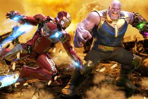 Iron Man Vs Thanos 4k