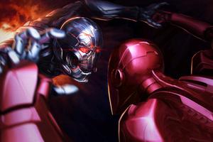 Iron Man Vs Thanos Wallpaper