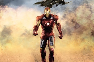 Iron Man Walking Wallpaper