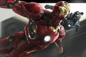 Iron Man War Machine Art Wallpaper