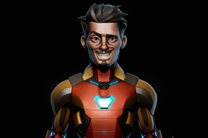 Iron Man Weird Smile Wallpaper