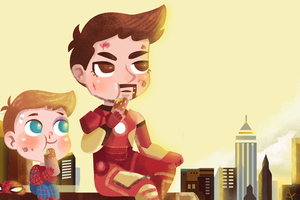 Iron Man With Spider Kid