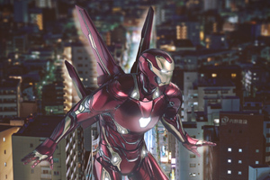 Iron Man With Wings 4k