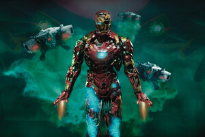 Iron Man Zombie 4k