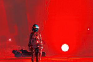 Iron Red Scifi 4k Wallpaper