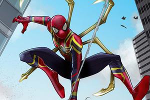 Iron Spider New Suit Artwork