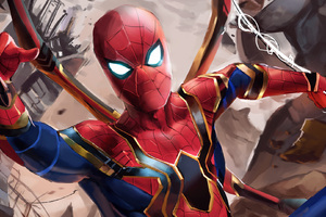 Iron Spider Suit In Avengers Infinity War Wallpaper