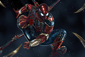 Iron Spiderman 4k Wallpaper
