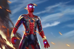 Iron Spiderman Avengers Infiniy War