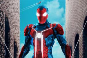 Iron Spiderman Suit Artwork
