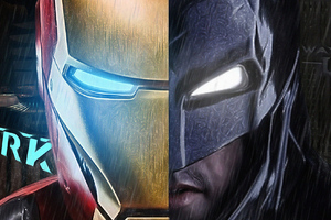 Ironman Vs Batman Mask