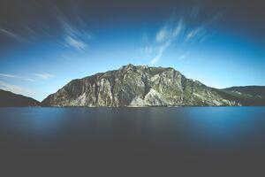 Island Water Landscape Open Sky 5k