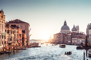 Italy Riverboat Sunrises And Sunsets Grand Canal 4k Wallpaper