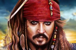 Jack Sparrow Colorful Digital 2D Art 4k Wallpaper
