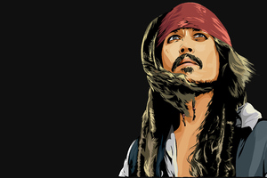 Jack Sparrow Minimal Art 4k Wallpaper