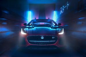 Jaguar F Type 2018 Front View