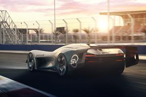 Jaguar Vision Gran Turismo SV 5K Rear Wallpaper
