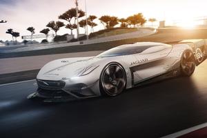 Jaguar Vision Gran Turismo SV On Road Wallpaper