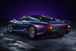 Jaguar XJ 220 Purple 4k Wallpaper