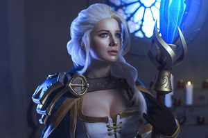 Jaina Proudmoore From The World Of Warcraft Cosplay 4k Wallpaper