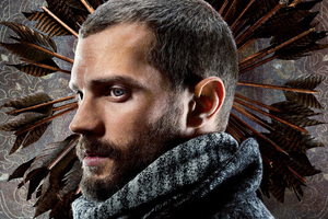 Jamie Dornan As Will Scarlet In Robin Hood Movie Wallpaper