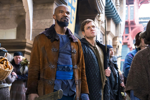 Jamie Foxx As Little John And Taron Egerton In Robin Hood 2018