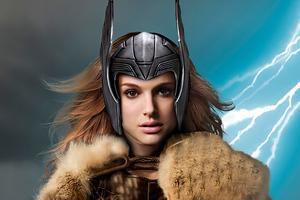 Jane Foster Viking Thor Wallpaper