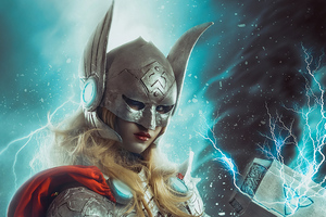 Jane Foster With Hammer Wallpaper