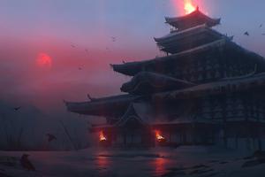 Japan Temple 4k Wallpaper