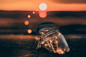 Jar Bokeh Effect Lights 4k