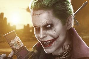 Jared Leto Joker Art 4k Wallpaper