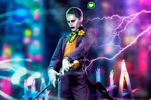 Jared Leto Joker Cyberpunk Art 4k Wallpaper