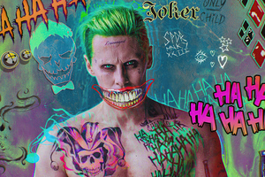 Jared Leto Joker Damaged 4k Wallpaper