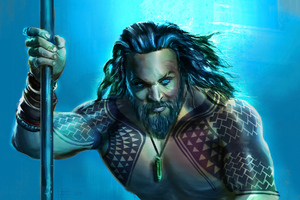 Jason Momoa Aquaman Art